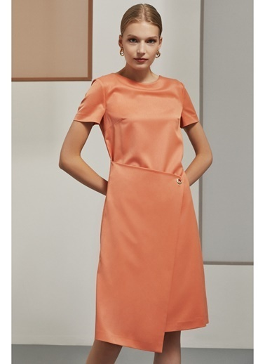 Perspective Elbise Oranj